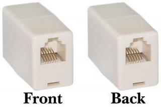 RJ cable coupler CabBus, LocoNet or XpressNet
