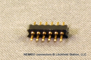 NMRA 6-pin (NEM651) Connectors - Male