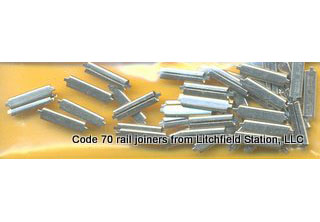 Rail Joiners Code 70 by Micro Engineering - Nickel Silver - FIFTY PACK
