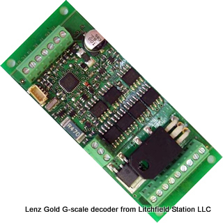 G or O DCC decoder by Lenz GoldMAXI
