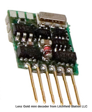 Z DCC decoder premium by Lenz GoldMini - NEM651 6-pin connector GoldMiniD