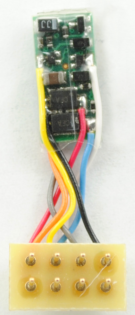 1342 Z DCC decoder - short leads to NEM652 plug - #TCS-Z2P-VO